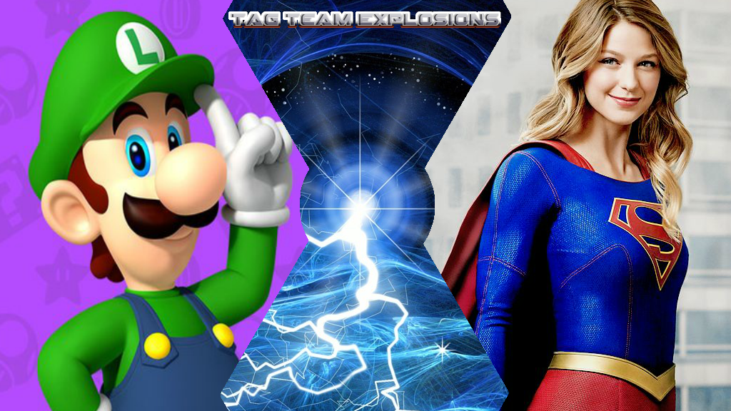 Luigi And Supergirl by lightyearpig