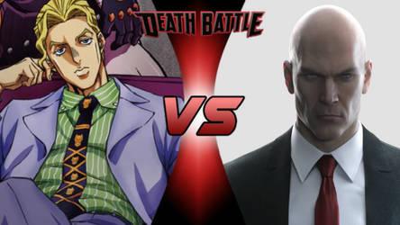 Death Battle: Yoshikage Kira vs Agent 47 by lightyearpig