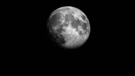 Moon, Waxing Gibbous by CNoteProductions
