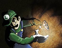 Luigi Fireball Blast by enemydownbelow