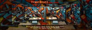 Tribe Wall  -  Dual Screen by Pierre-Lagarde
