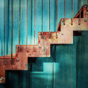 Red Stairs by Pierre-Lagarde