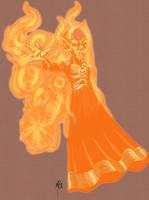 No Name 66 - Orange Lantern by UltimeciaFFB