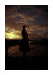 charlotte sur le pont des arts by oye