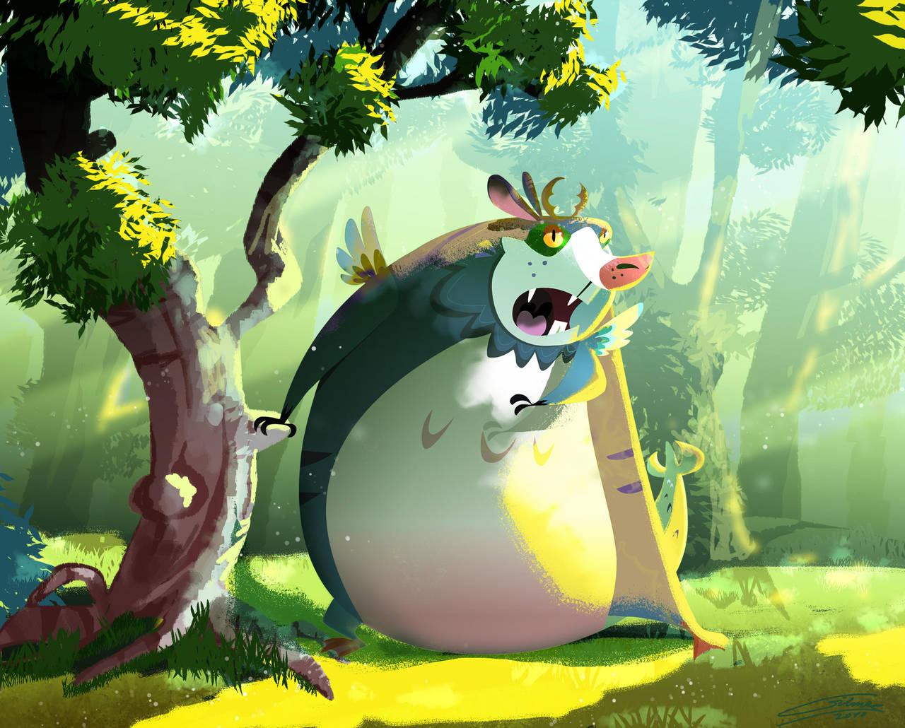 Wolpertinger in the Woods by Gilmec