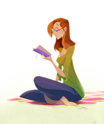 Reading Girl by Gilmec