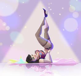 burlesque  dancer by Gilmec