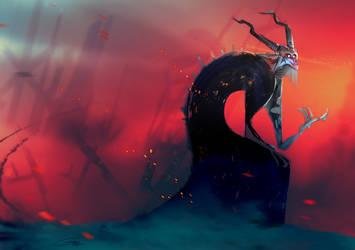 Ash Demon Painter by Gilmec