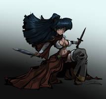 Samurai_Girl colored by Gilmec