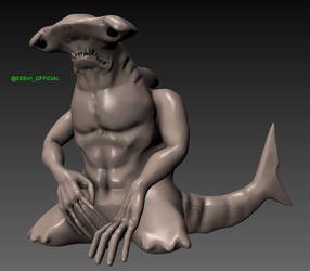 Blender Sculpt - Sad Hammerhead Shark by EEEnt-OFFICIAL