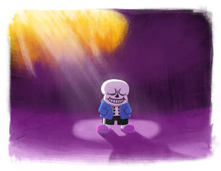 Undertale - Sans in Sunlight by EEEnt-OFFICIAL