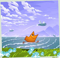 Kafruls - Flying Fish by kittyninjafish
