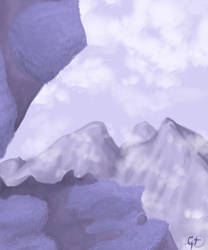 Purple Mountain by greenytijana