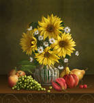 Still life with sunflowers by IgnisFatuusII