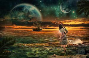 An emerald shores. by IgnisFatuusII