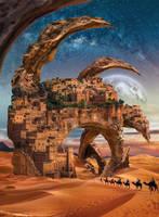 Fantastic city in desert by IgnisFatuusII