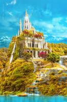 Elfish castle 2 by IgnisFatuusII