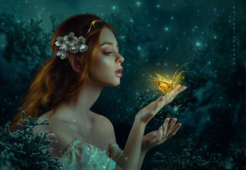 Gold Butterfly by IgnisFatuusII