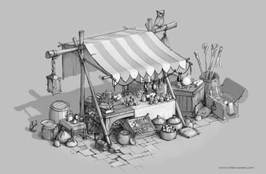 Magic Market Stall by MilanVasek