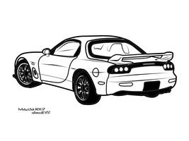 Mazda RX-7 Vector Art by ahmad0410