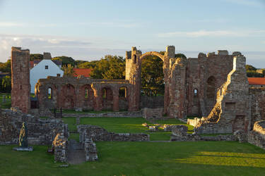 Lindisfarne at sunset by parallel-pam