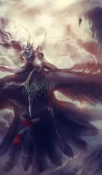 Valkyrie / Shinigami by heather-mc-kintosh