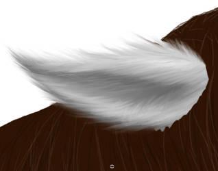Fluffy horse ear. Tutorial. by Redfiredark