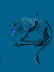 Demon cat Eddie. 3. by Redfiredark