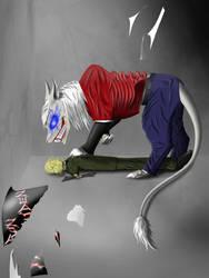 Demon cat Eddie. Blue eyes. Recoloration. by Redfiredark
