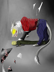 Demon cat Eddie. Yellow eyes. Recoloration. by Redfiredark