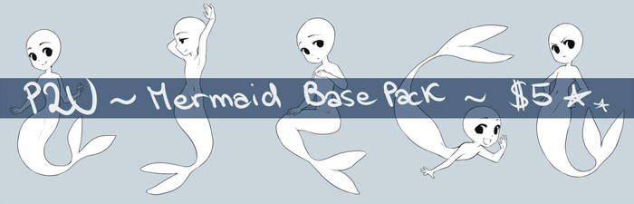 P2U Mermaid Base Set by DesireeU