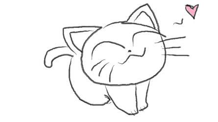 Heart Kitty by SilverWolfx3