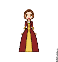 Belle's Christmas Dress by LolaScheving