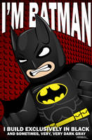 Lego I'm Batman by Hihoshi