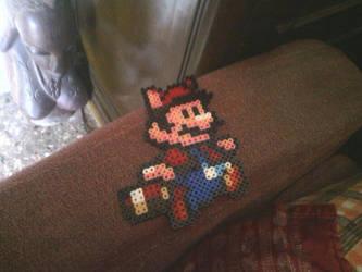 A Hama Beads of Mario Bros by Contxu