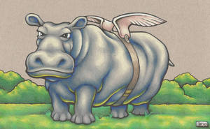 Hippo with Wings by SEVANS73