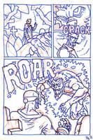 Hellboy Pg2 ROUGH by SEVANS73