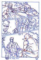 Hellboy Pg3 ROUGH by SEVANS73