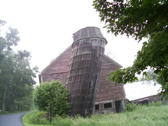 Leaning Silo in Vermont 2 by TheGreatWiseAss