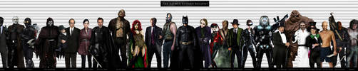 BATMAN ROGUES GALLERY by Art-by-Jilani