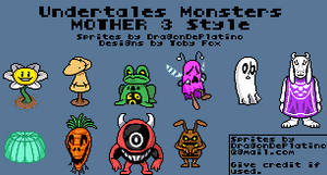 Undertale Monsters - MOTHER 3 Style by DragonDePlatino