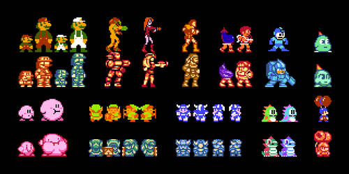 NES Character Revamp by DragonDePlatino
