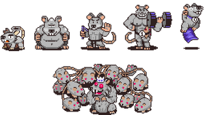 Earthbound Fangame Rats by DragonDePlatino
