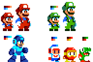 Uzebox Sprites by DragonDePlatino