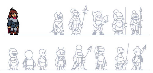 Crucis Sketches by DragonDePlatino