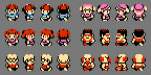 MOTHER Sprites by DragonDePlatino