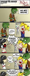 Brainlez VS Zombie by MissANN91
