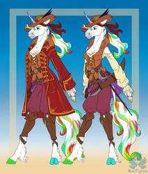 Ref: Ecohorse the Unicorn Pirate by CopyCat87