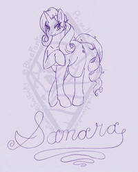 Rarity Pencil Commission by bluefantasy