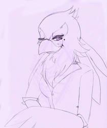 Secretarial Bird by bluefantasy